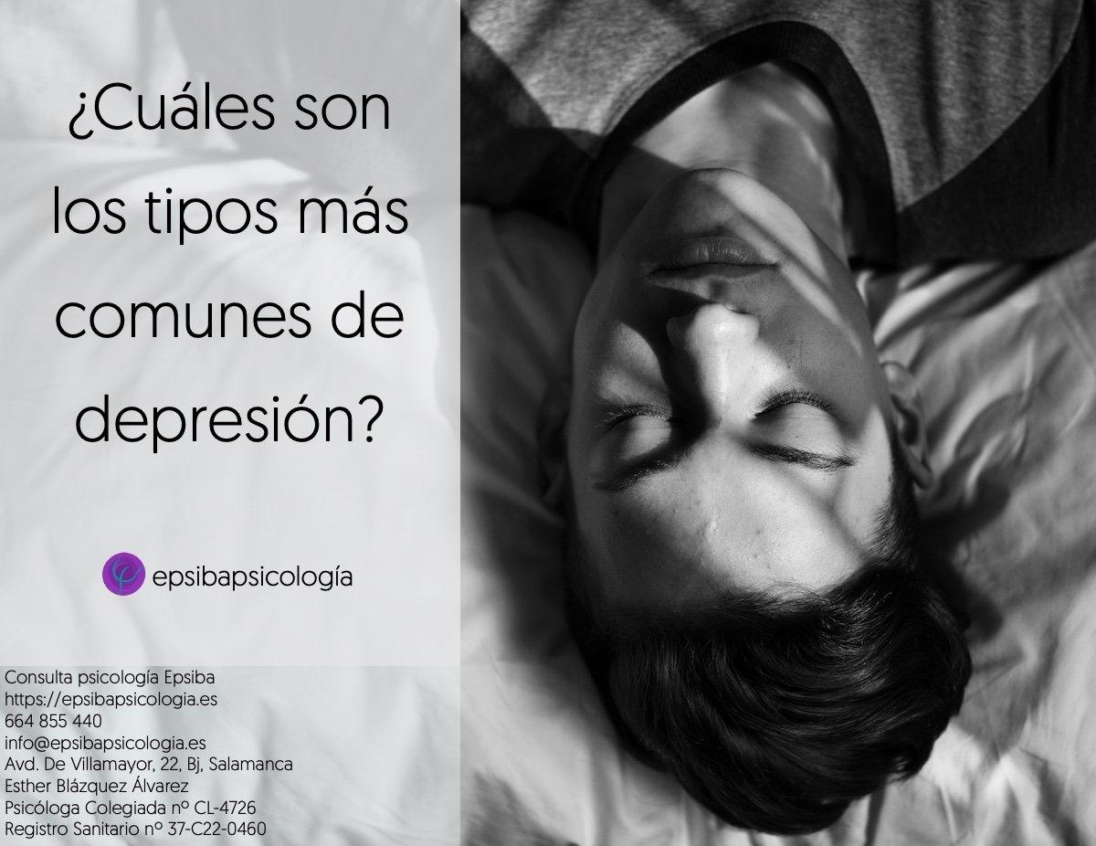 tipos de depresion mas comun